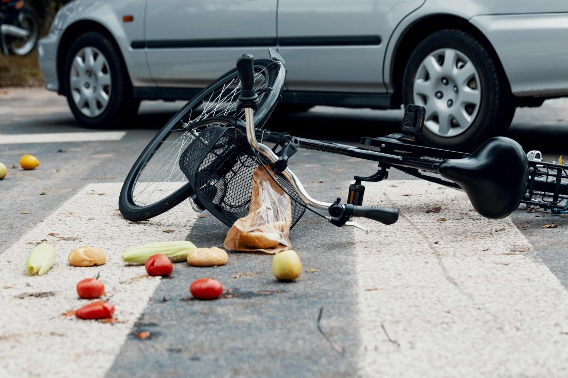 Bicycle Accident Broken Bike