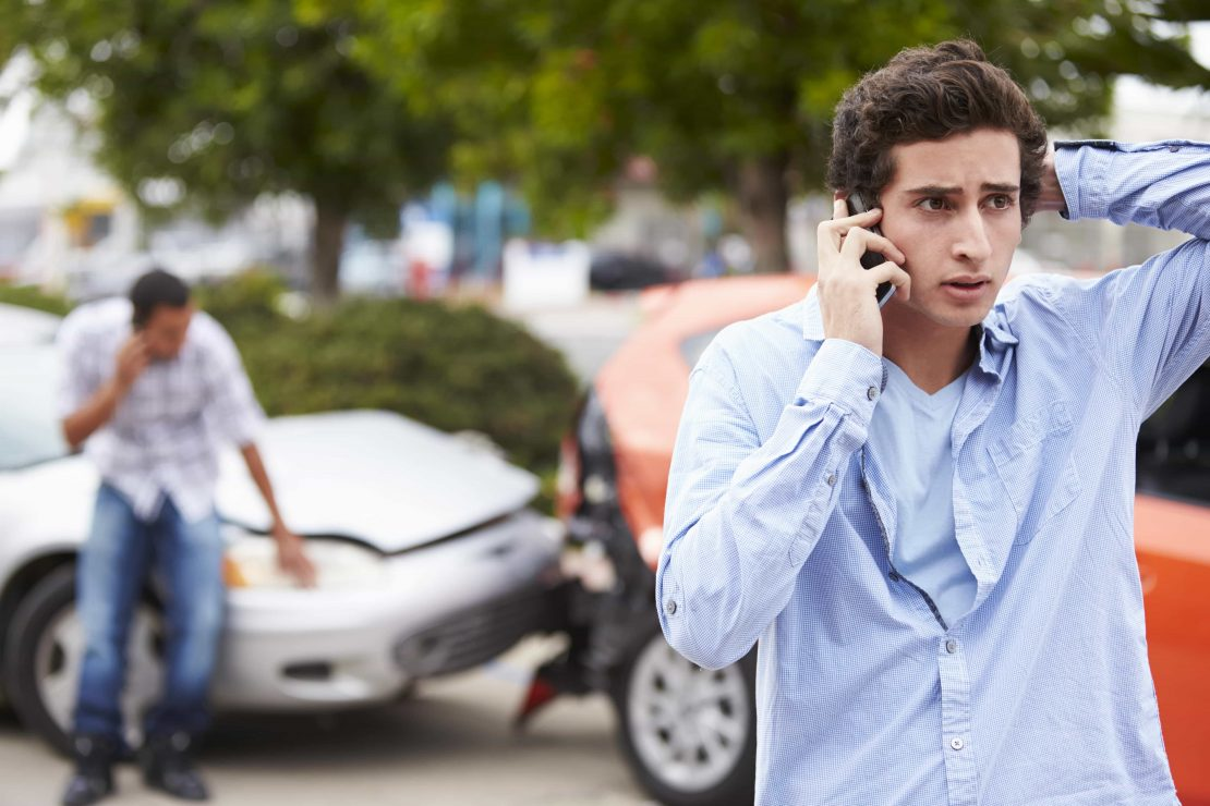 Car Accident Making Phone Call